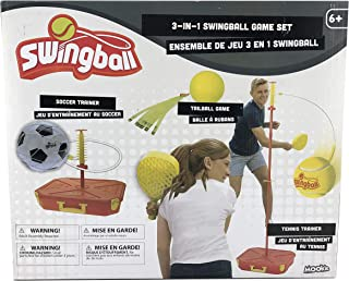Mookie Swingball Game Set | Kids Soccer Trainer | Tennnis Trainer | Lawn Game