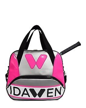 DAWEN Bolso de gimnasio Mujer | Bolso de fitness con bolsillo específico para pala de padel