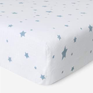 product image for Newton Baby Organic Fitted Crib Sheet - 100% Breathable and Ultra-Soft, 100% Organic Muslin Cotton, Stardust Print, Fits All Standard Cribs