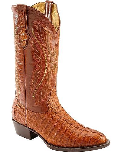 5e1728c6f7a Ferrini Men's Caiman Tail Cognac Leather Boots