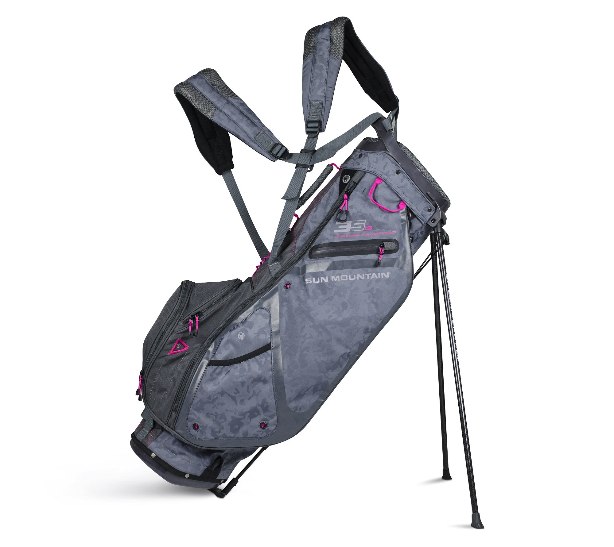 Sun Mountain 3.5 LS Stand Bag 2018 Women Storm/Hot Pink by Sun Mountain