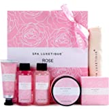 Spa Luxetique Spa Gift Set for Women, Gift Baskets for Women, 6 Pcs Bath and Body Spa Kit, Bath Set Includes Body Lotion, Sho