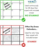 Magnetic Dry Erase Calendar for Fridge with Stain