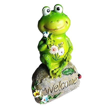 Bon Amazon.com : Sumje 9 Inch Frog Garden Welcome Statues Sculptures Outdoor  Decor (9u0027u0027 Frog) : Garden U0026 Outdoor
