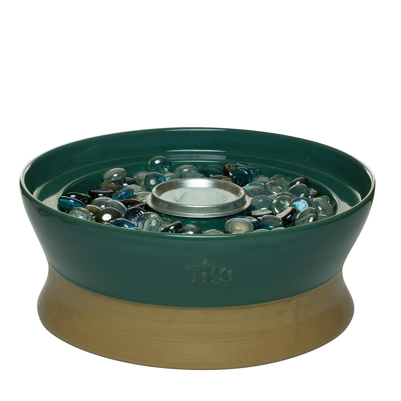 TIKI Brand Clean Burn Ceramic Tabletop Firepiece Torch, 7 Inch, Bronze 1114152
