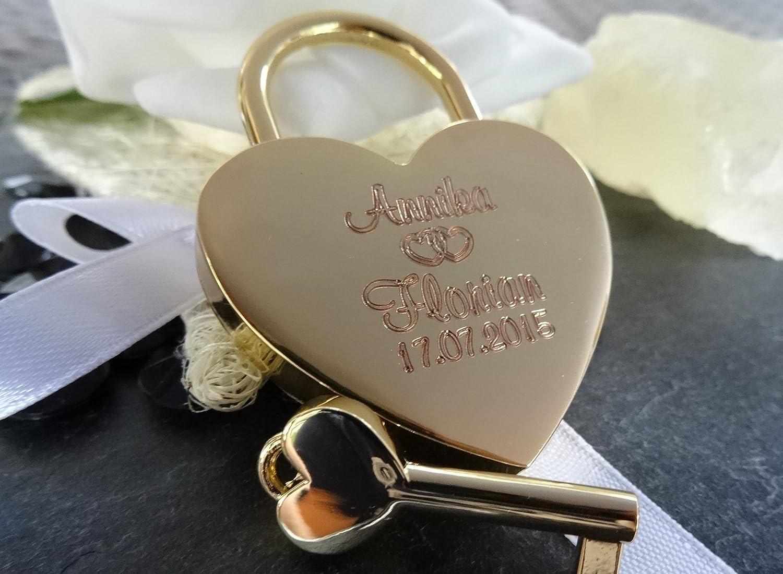 Candado de coraz/ón con texto opcional grabado //¡Crea ahora tu propio candado del amor!