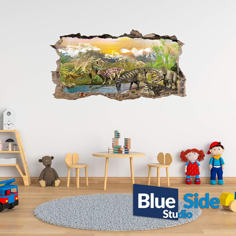 Adesivo da parete con dinosauri Life World effetto 3D Hole in the Wall 105cm x 55cm