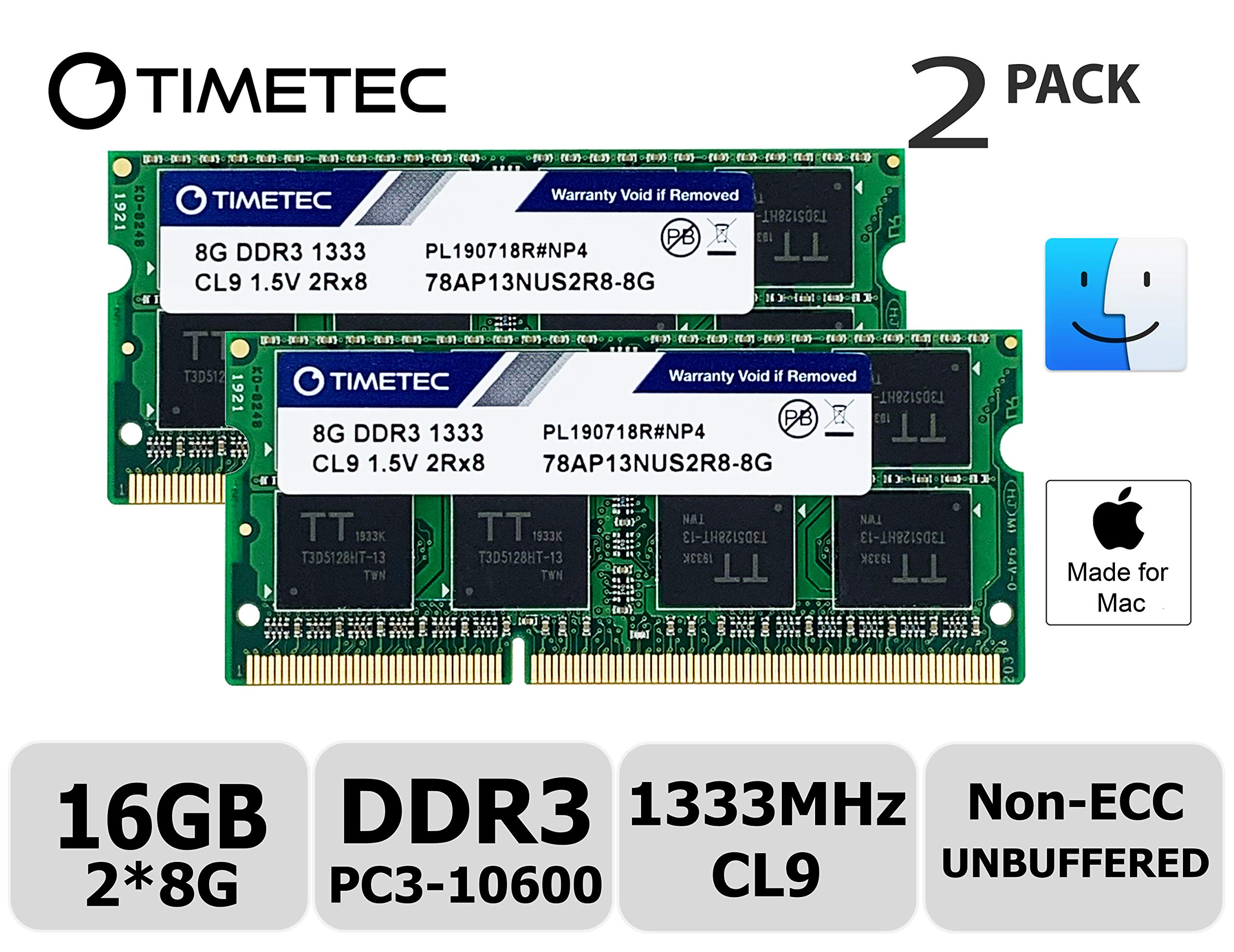 Memoria Ram 16gb Timetec Hynix Ic Kit(2x8gb) Compatible Para Apple Ddr3 1333mhz Pc3-10600 Para Early/late 2011 13/15/17