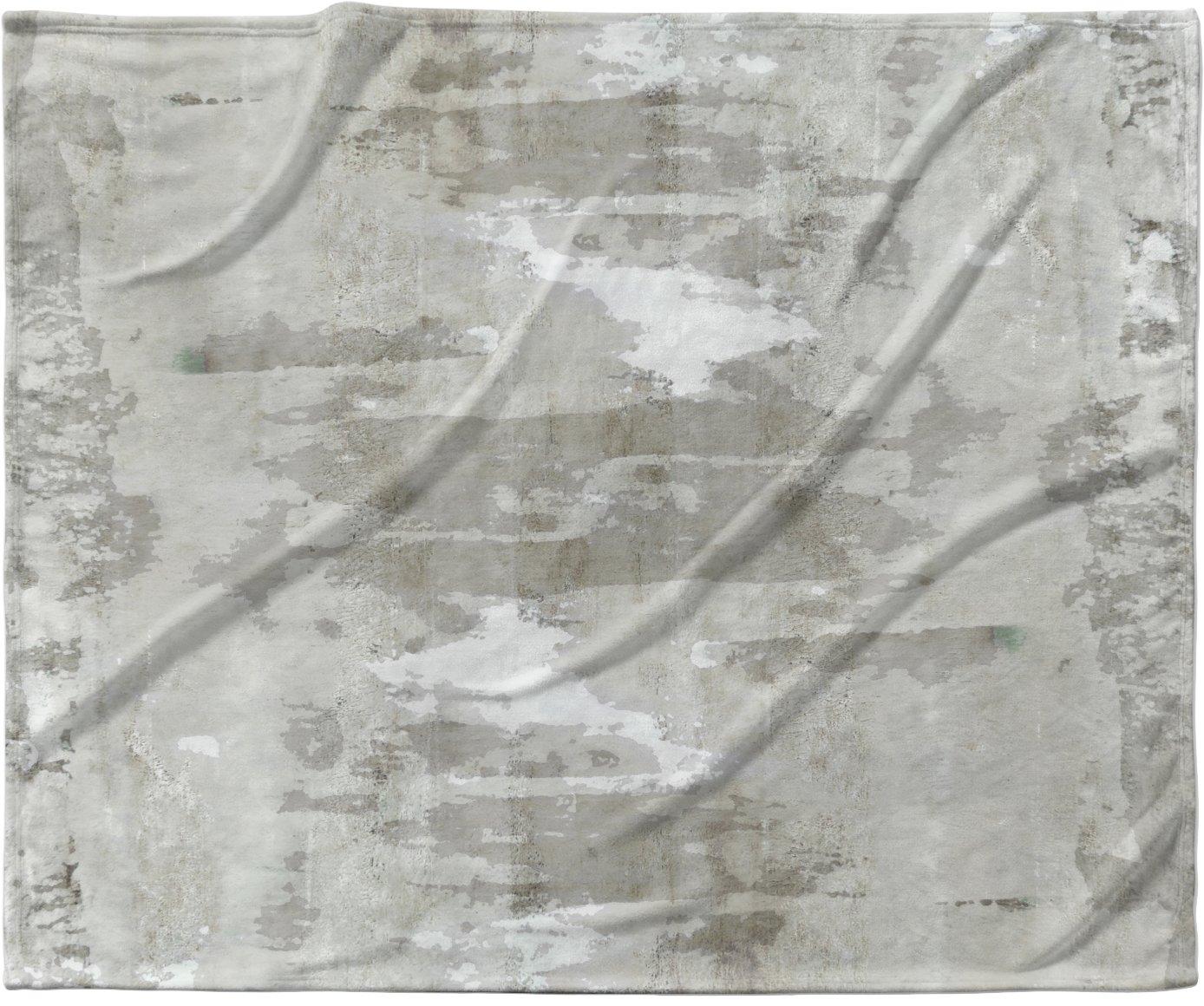 KESS InHouse CarolLynn Tice 'Effortless' Neutral Gray Fleece Baby Blanket, 40' x 30'