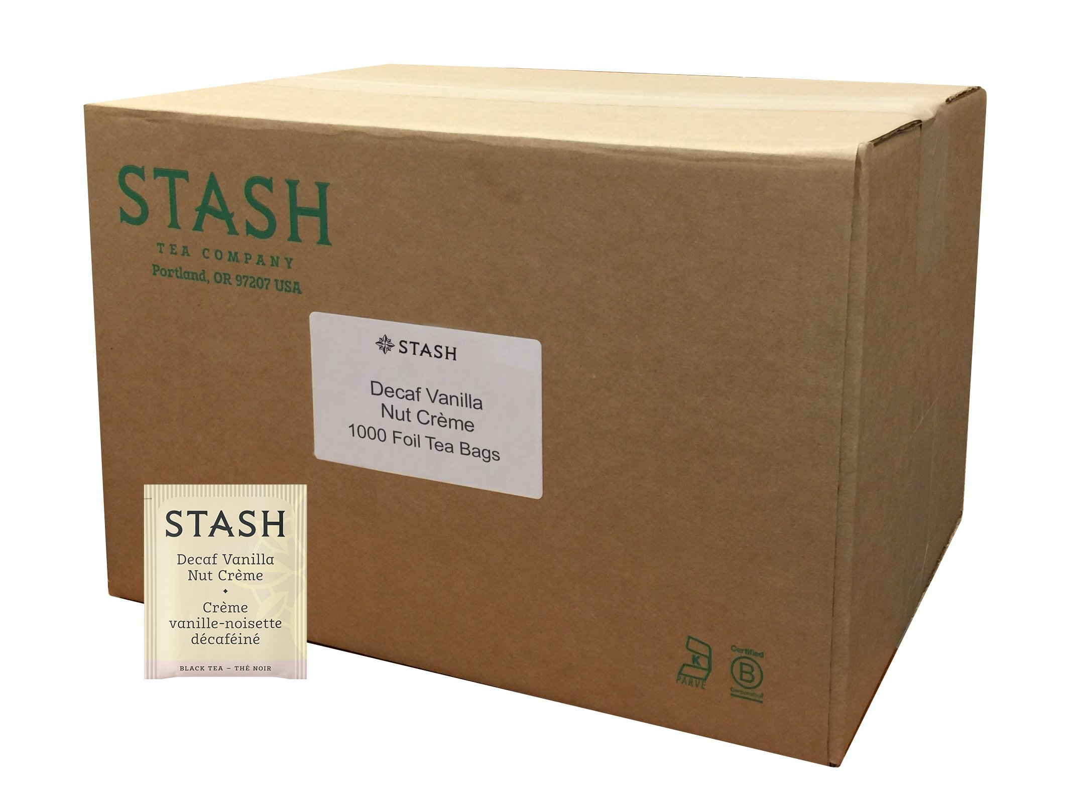 CDM product Stash Tea Decaf Vanilla Nut Creme Black Tea 1000 Tea Bags in Foil (Packaging May Vary) Individual Decaffeinated Black Tea Bags for Use in Teapots Mugs or Cups, Brew Hot Tea or Iced Tea big image