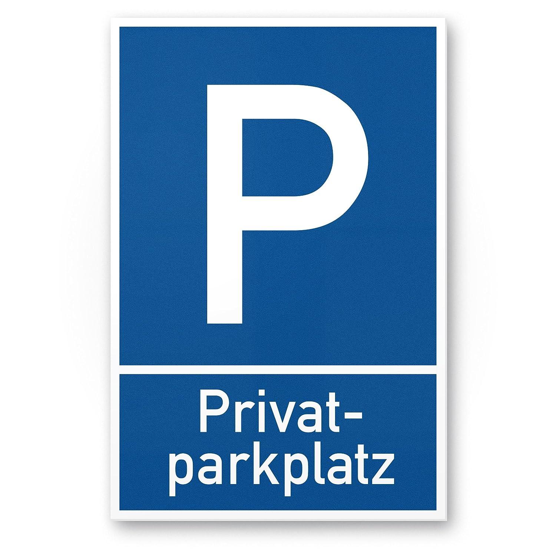 Cartel de aparcamiento privado, color azul, 20 x 30 cm, para ...