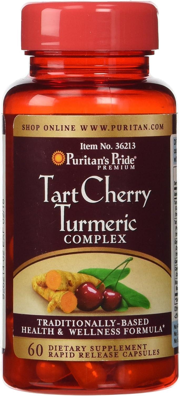 Puritan's Pride Tart Cherry Turmeric Complex-60 Capsules