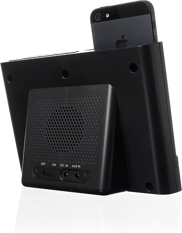 KitSound XDOCK2 - Estación de conexión con radio reloj (enchufe para Europa y conector Lightning) azul Negro qMbvEj7n