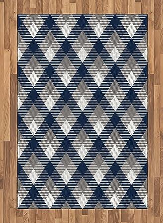 Amazon.com: Azul marino área alfombra por Ambesonne ...