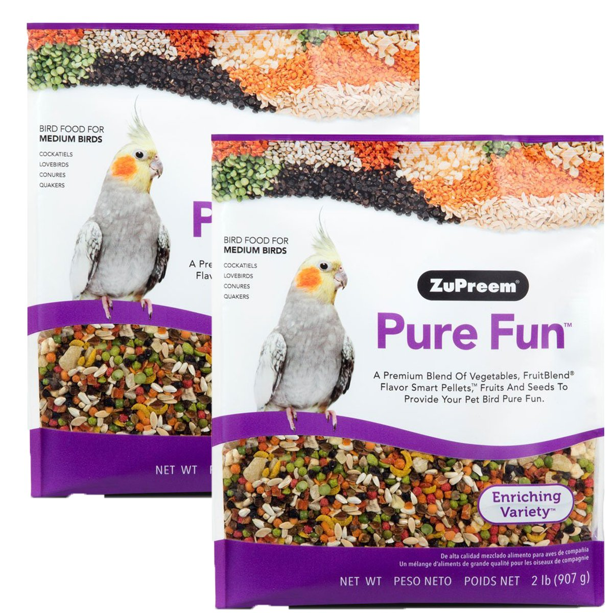 ZuPreem Pure Fun Bird Food, Available for Various Sizes (4LBS) by ZuPreem