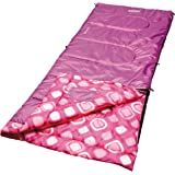 Coleman Girls Youth Rectangle Sleeping Bag Pink/White Dots
