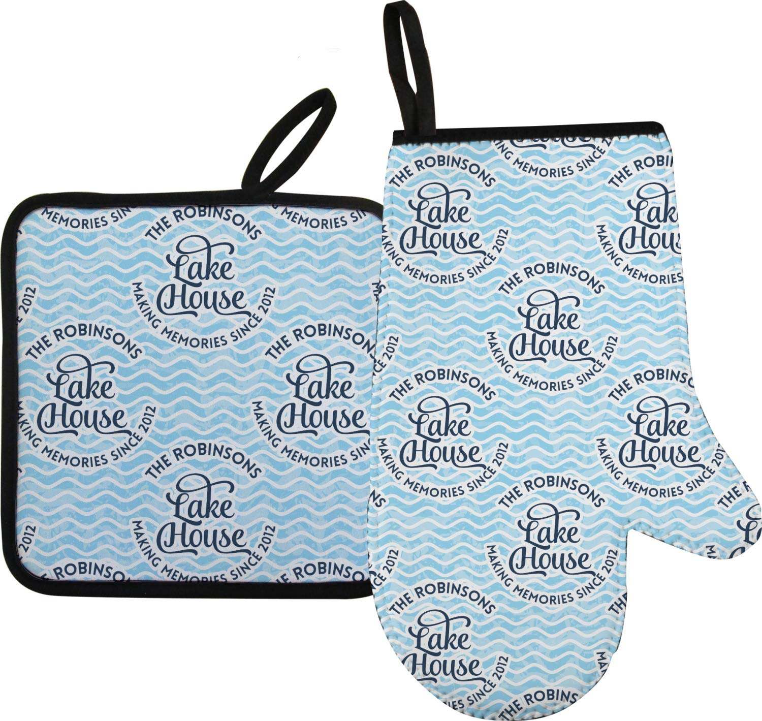 RNK Shops Lake House #2 Oven Mitt & Pot Holder (Personalized)
