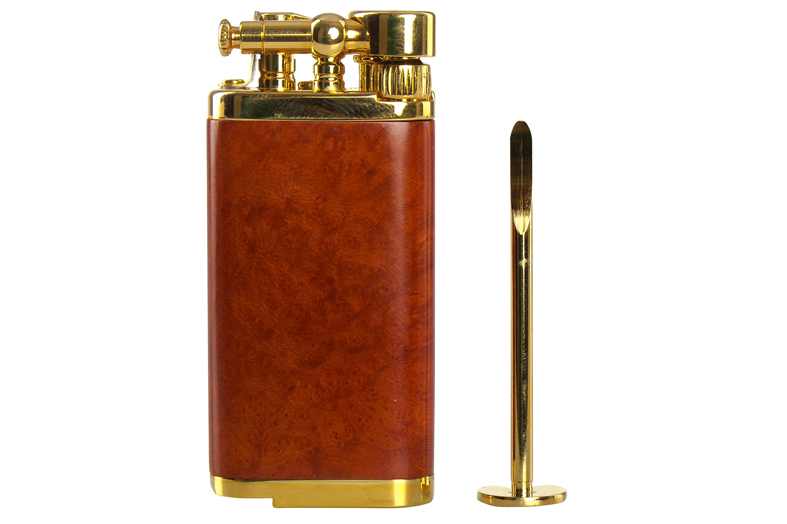 IM Corona Old Boy Gold And Natural Smooth Briar Pipe Lighter by IM Corona (Image #4)
