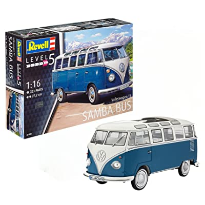Revell 07009 Volkswagen T1 Samba Bus Model Kit, 1:16 Scale 27.2 cm, Multi-Color, 223: Toys & Games