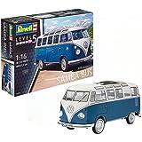 Revell Maqueta Volkswagen T1 Samba Bus, Kit Modelo, Escala 1:16 (07009), 27,2 cm de Largo (
