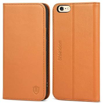 920a1fa4c0 iPhone6s ケース / iPhone6 ケース 手帳型 SHIELDON 本革 カバー TPU カードポケット スタンド機能