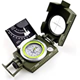 AOFAR AF-4074 Military Lensatic Sighting Compass Multifunctional, Fluorescent, Waterproof and Shakeproof with Inclinometer and Carrying Bag for Camping, Hiking, Hunting