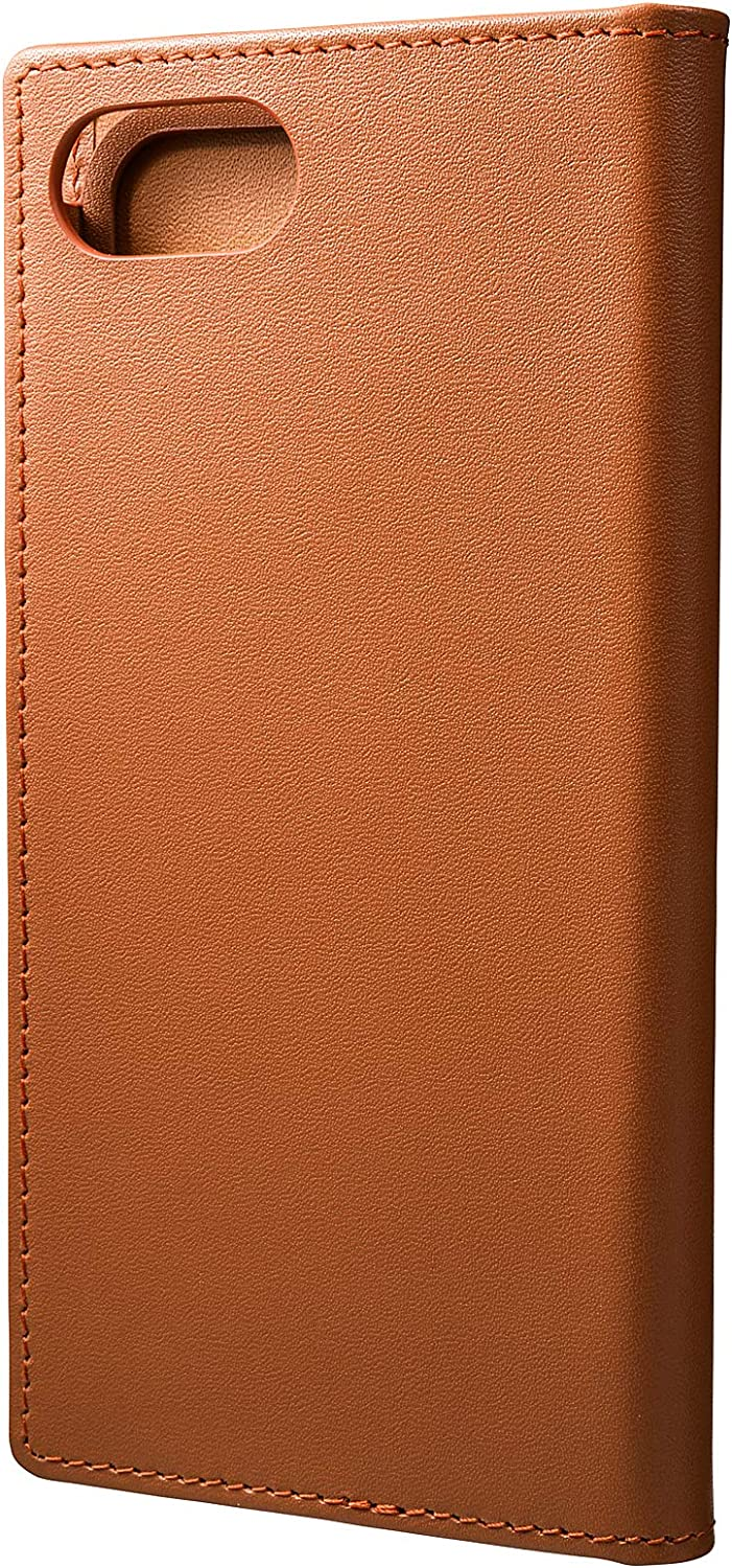 GRAMAS GLC626TA 8/Real Leather Flip Case for Apple iPhone 7, Light Brown