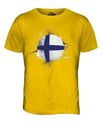CandyMix Finnland Fußball Herren T Shirt, Größe Small, Farbe Dunkelgelb