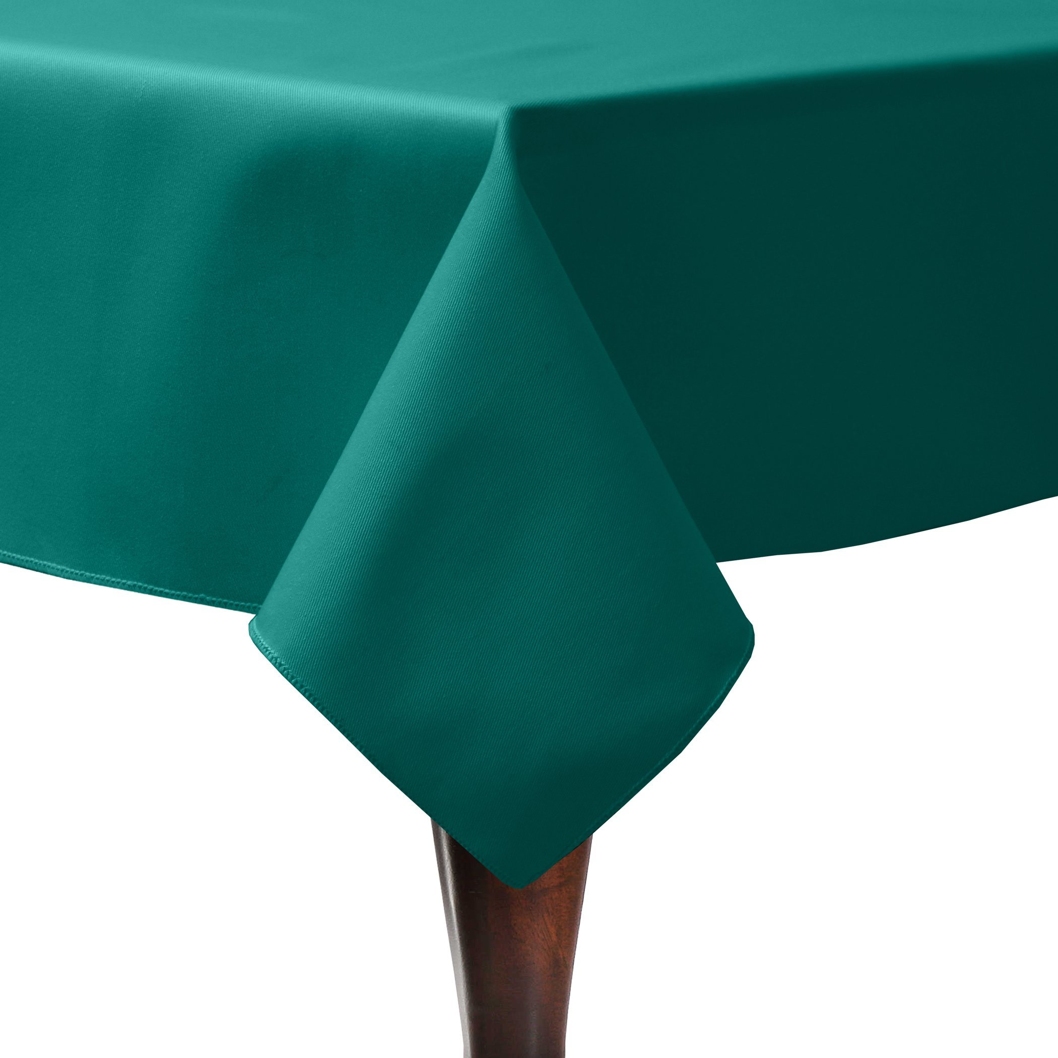 Ultimate Textile (10 Pack) Poly-cotton Twill 72 x 108-Inch Rectangular Tablecloth - for Restaurant and Catering, Hotel or Home Dining use, Teal by Ultimate Textile (Image #1)