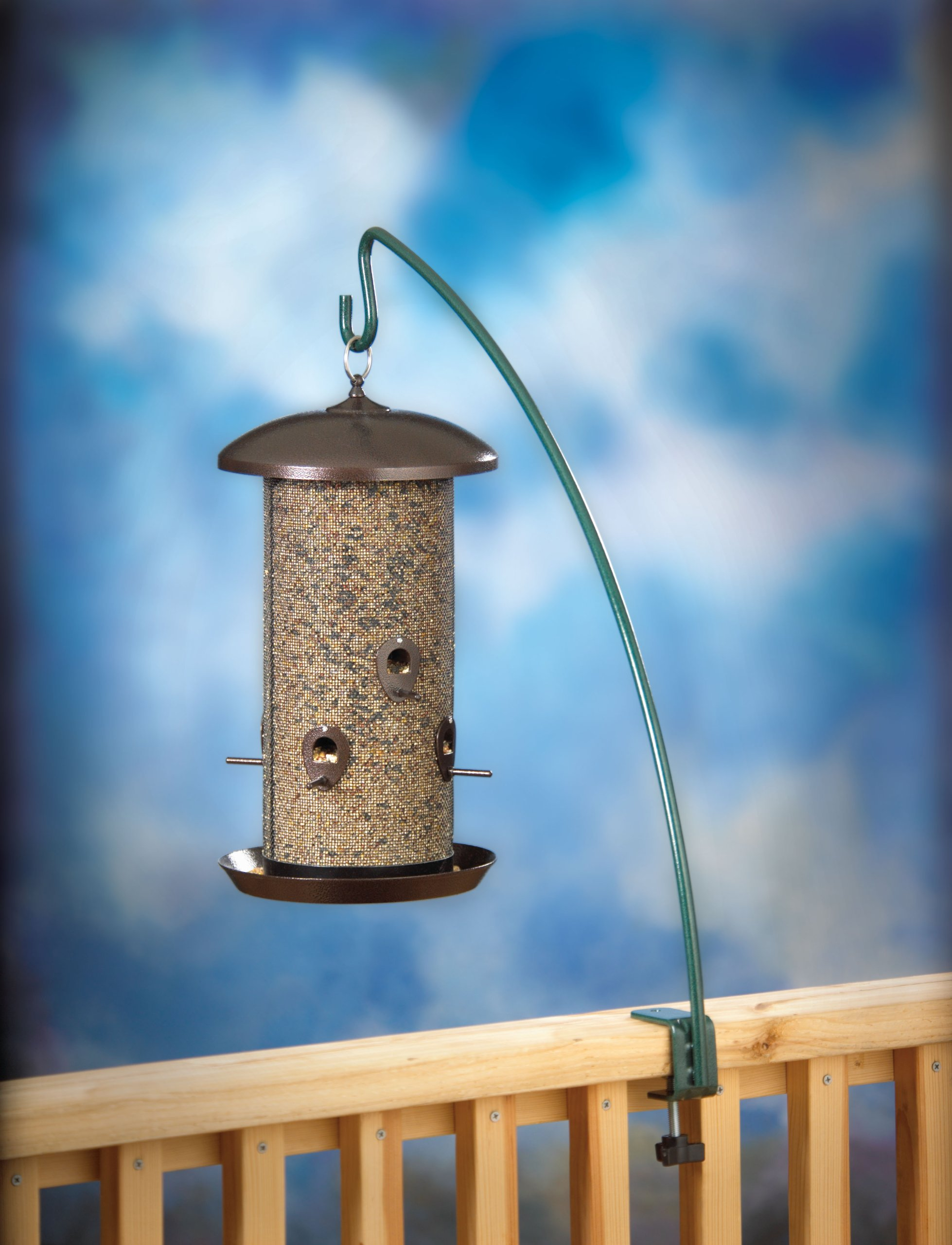Stokes Select 24-Inch Metal Clamp-On Deck Hook for Bird Feeder (38015)