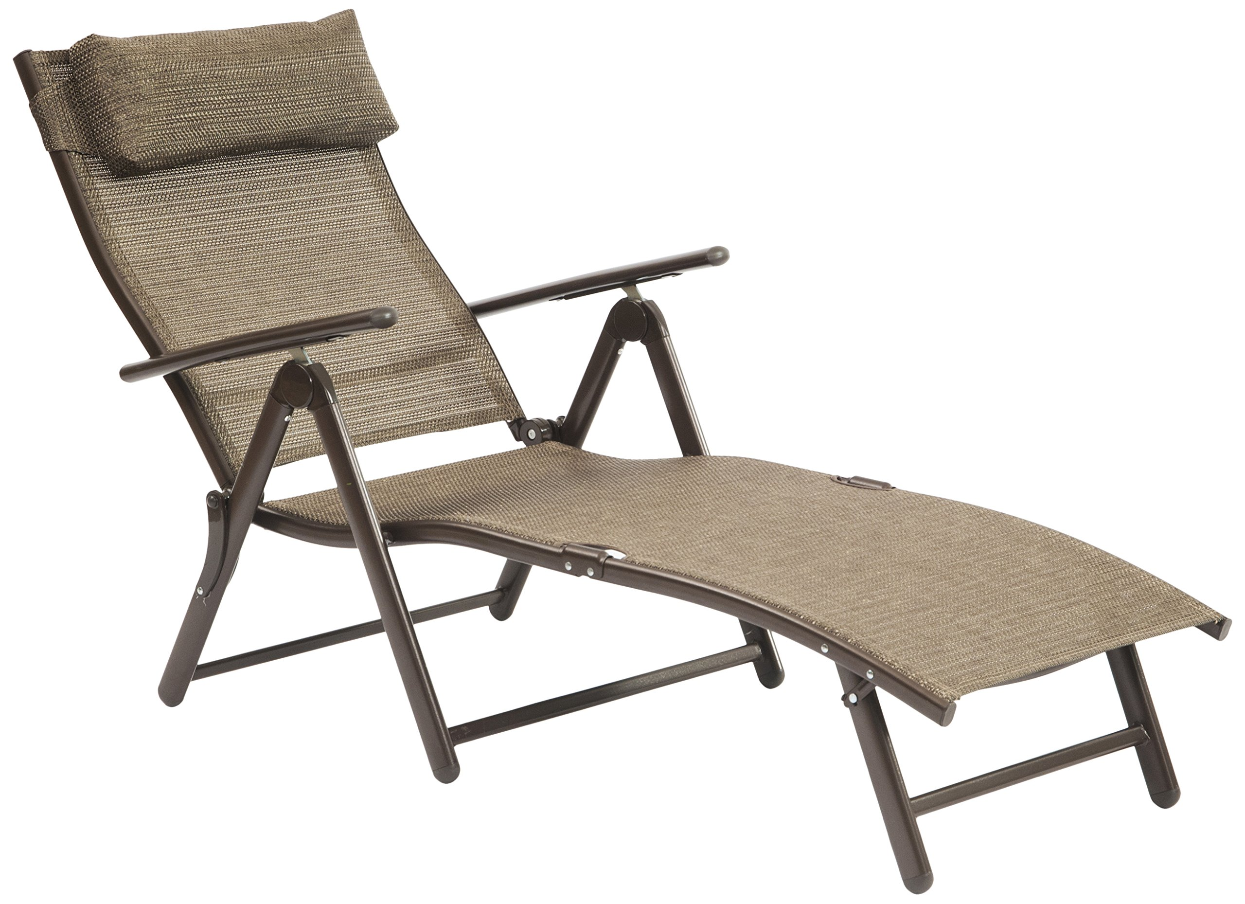 SunTime GF05014USA Metal Sunlounger Outdoor Lounge Chair, Bronze