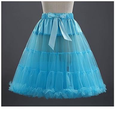 damen petticoat kleid weiß blau
