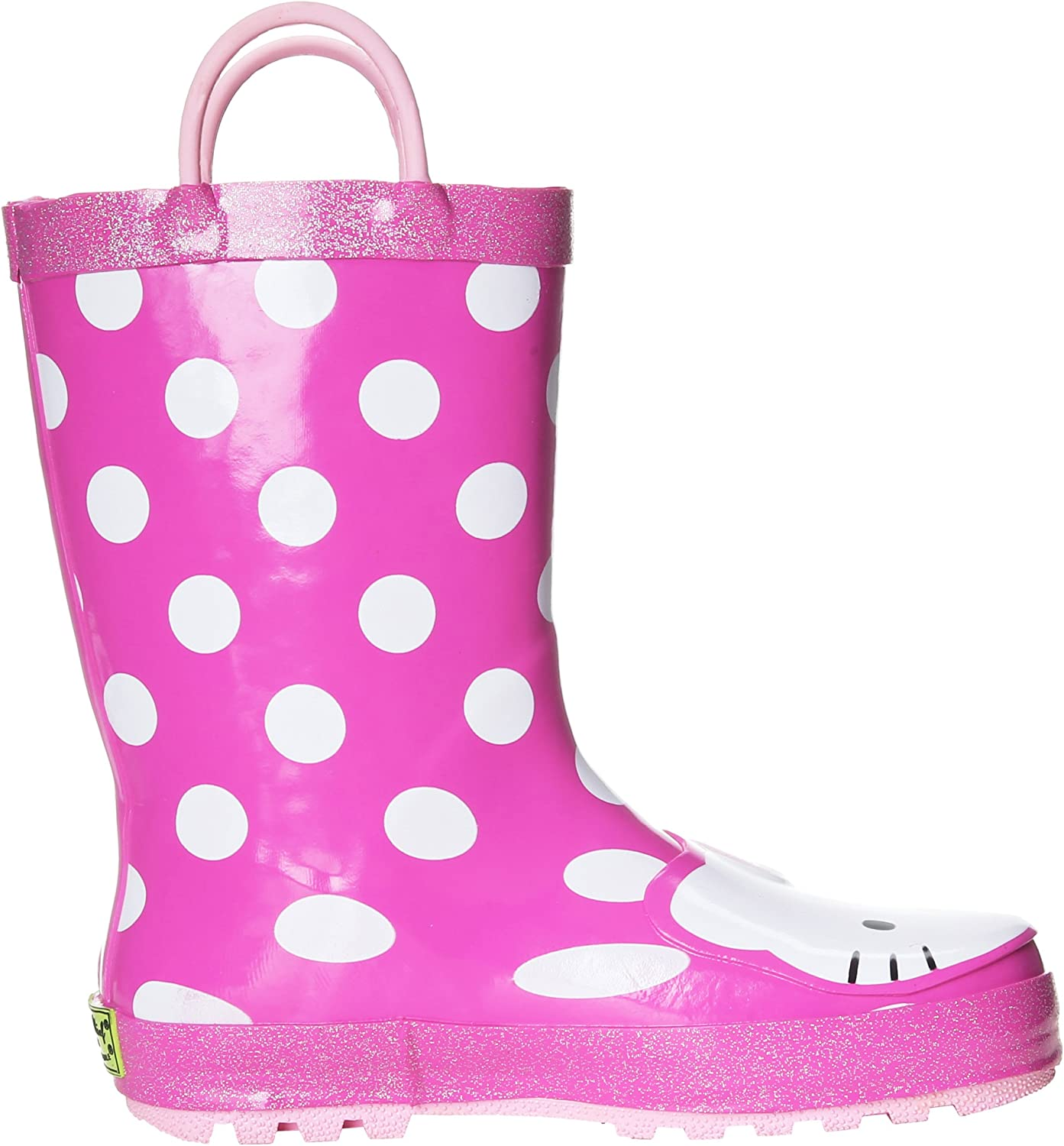 Western Chief Kids Hello Kitty Waterproof Character Rain Boots with Easy on Handles