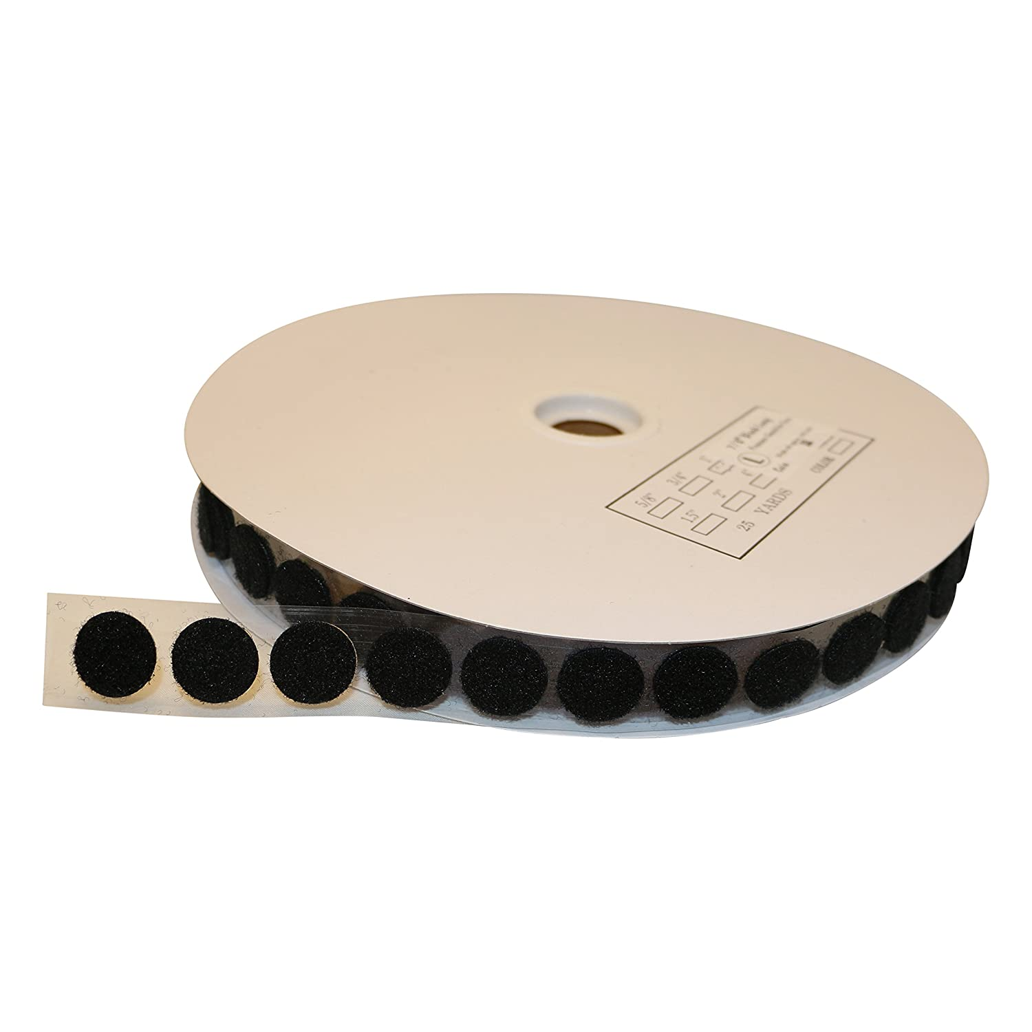 //50 coins Black 50 coins//roll FindTape HL74-C Adhesive Loop-Side Only: 3//4 in diameter