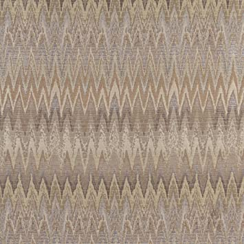Amazon Com Opal Flame Beige And Gold Large Chevron Pattern Brocade