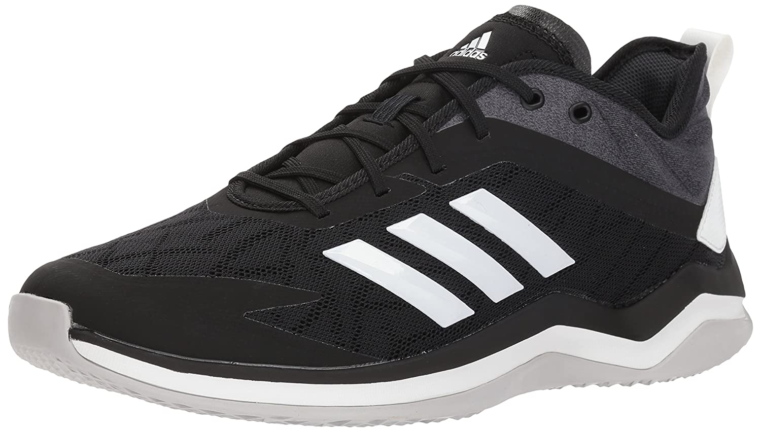adidas Men's Speed Trainer 4 Baseball Shoe B077X3S6LM 4.5 D(M) US|Black/Crystal White/Carbon