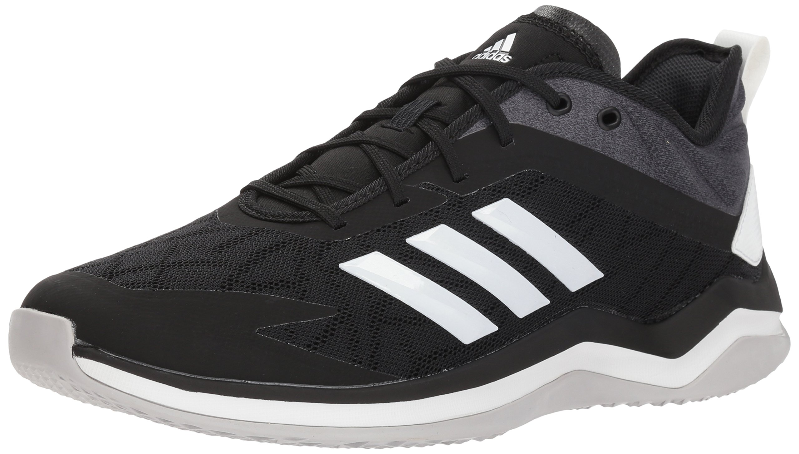 adidas Men's Speed Trainer 4 Baseball Shoe, Black/Crystal White/Carbon, 8 M US