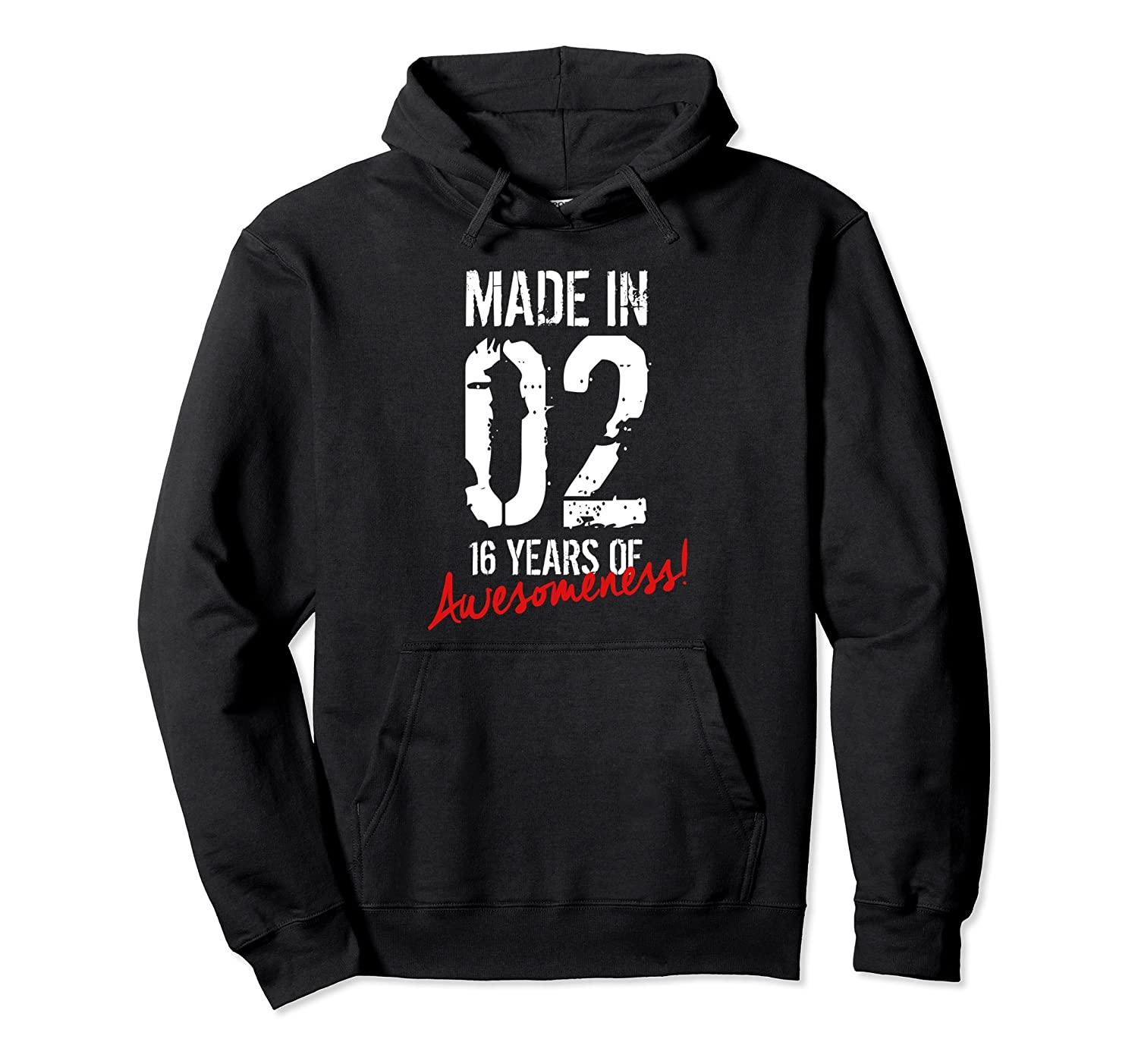 16th Birthday 16 Year Old Gift Hoodie Born in 2002-TH