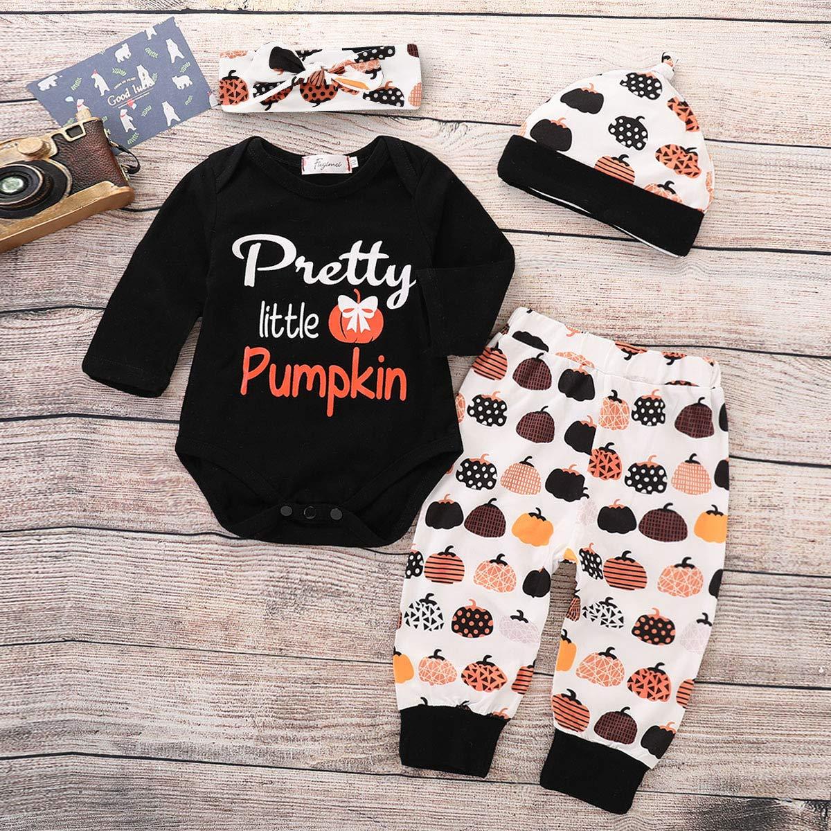 Halloween Outfit Set Baby Girls Pumpkin Cute Pant Clothing Set