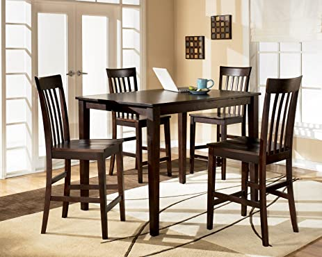 Ashley Hyland D258 223 5 Piece Dining Room Set With 1 Counter Height Table Part 95