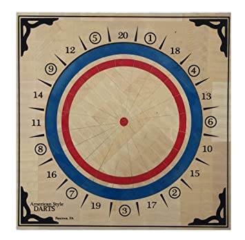 Amazon.com : American Style Wood Dartboard : Sports & Outdoors