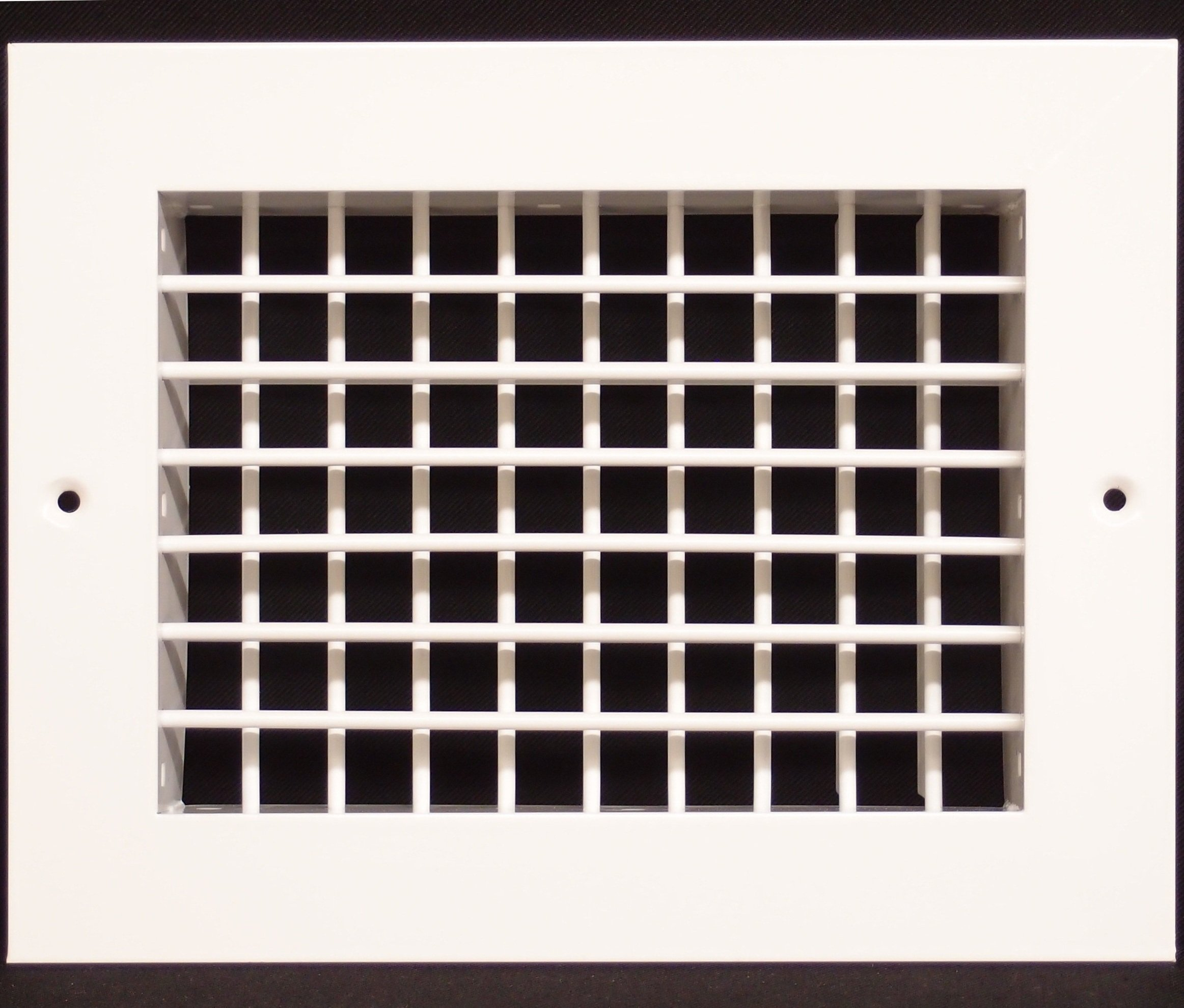 8''w X 6''h Aluminum Double Deflection Adjustale Air Supply HVAC Diffuser - Full Control Vertical/Horizontal Airflow Direction - Wide Front End Overlap - Vent Duct Cover