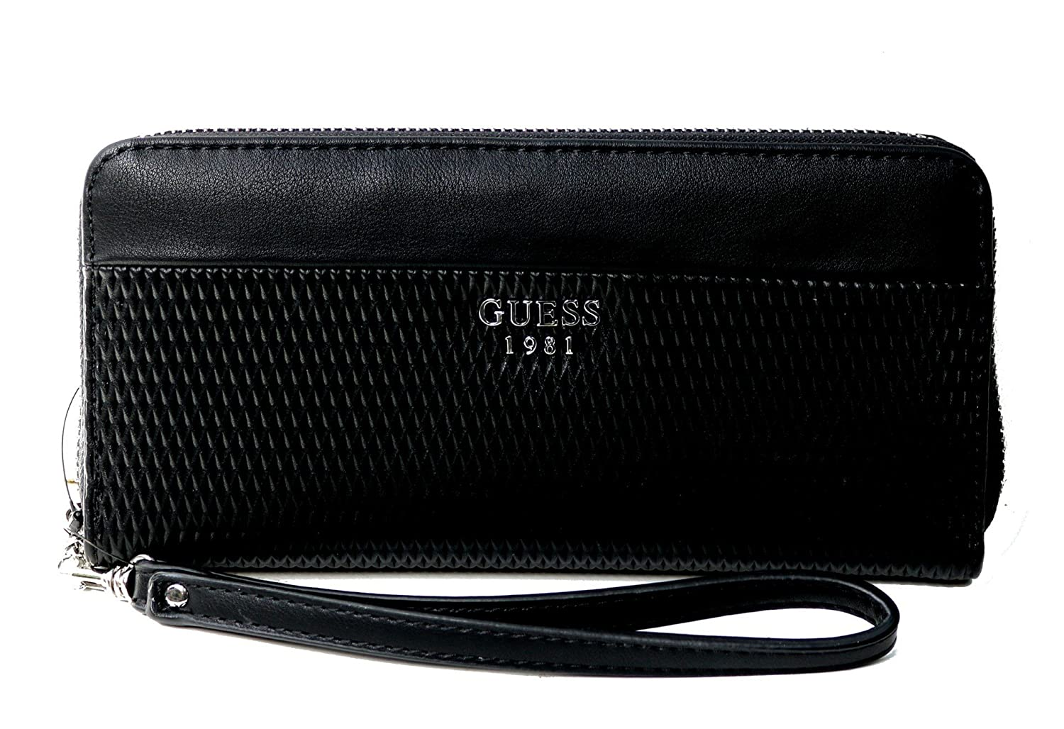 Guess Blakley large zip around Geldbörse – Schwarz: Amazon
