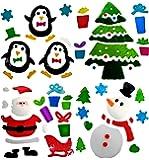 4 Fogli Di Adesivi Decorativi in Gel Per Finestra, Motivo Natale