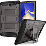 Spigen Samsung Galaxy Tab S4 10.5 inch Tough Armor TECH Gun Metal kickstand cover/case - Gunmetal - Full Cover with Tempered Glass Screen Protector