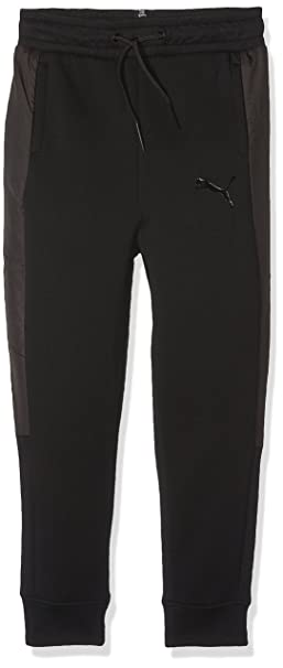 5f1fdce567f7d PUMA 573507 01 Pantalon Enfant Noir FR : S (Taille Fabricant : 128 ...