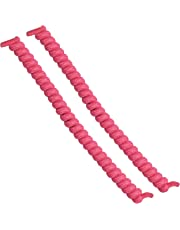 Rehabilitation Advantage Rehabilitation advantage curly no-tie shoelaces, pink 0.04 pound