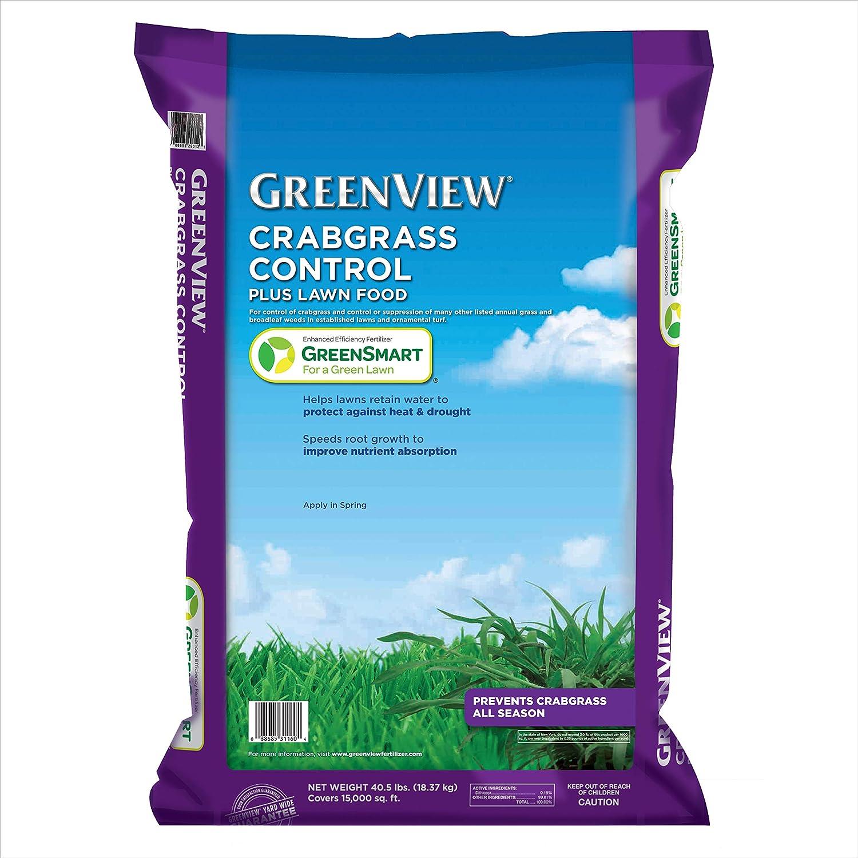 GreenView 2131179 Crabgrass Control + Lawn Food, 40.5 lb. -Covers 15,000 sq. ft
