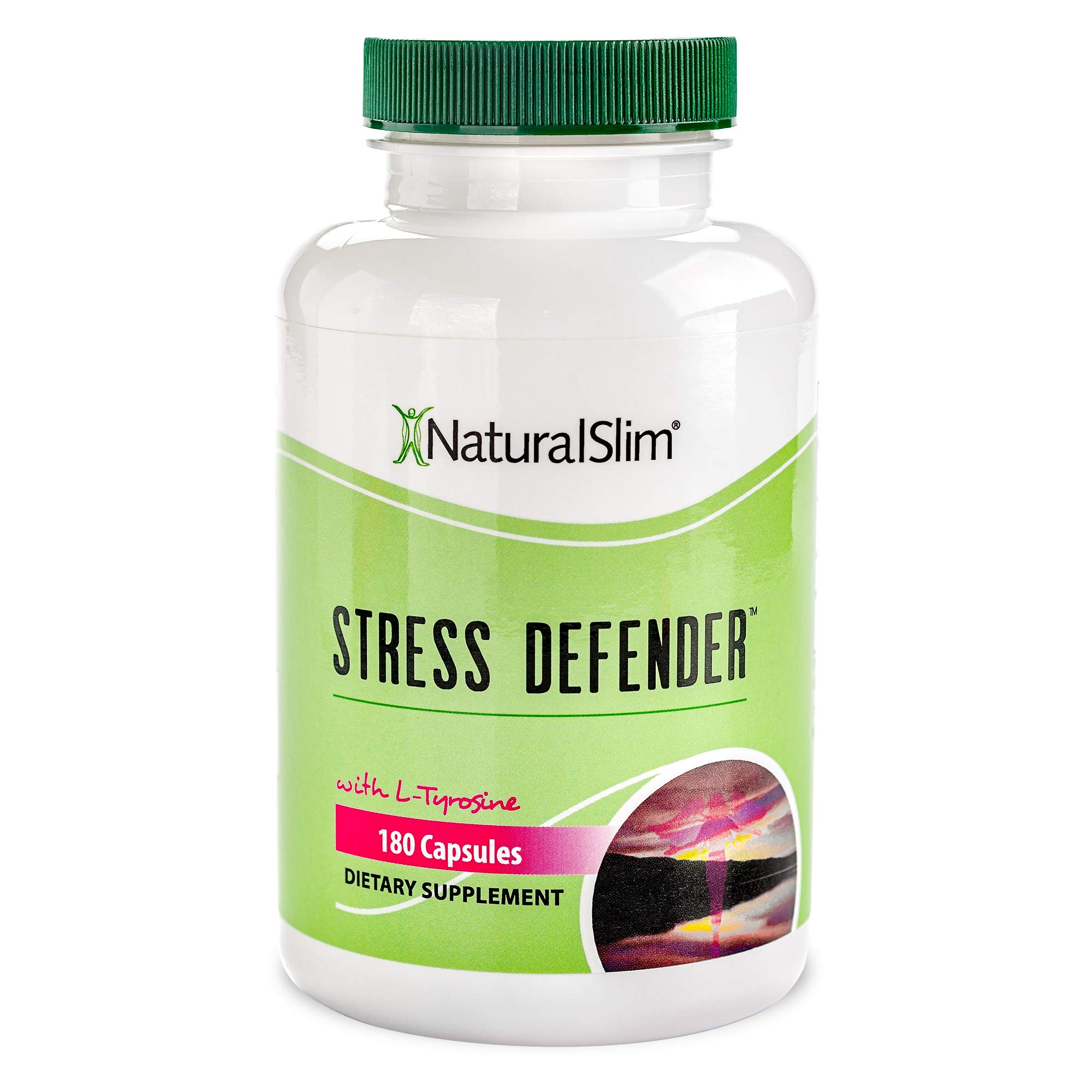 NaturalSlim Anti-Stress Supplement - Healthy Stress Response Support & Anxiety Relief - Help Calm the Body & Mind, Boost Mood, Increase Energy, & Improve Sleep - 180 Capsules