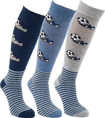 socksPur Socks Pur Kids - Calcetines de rodilla para niños (3 unidades)